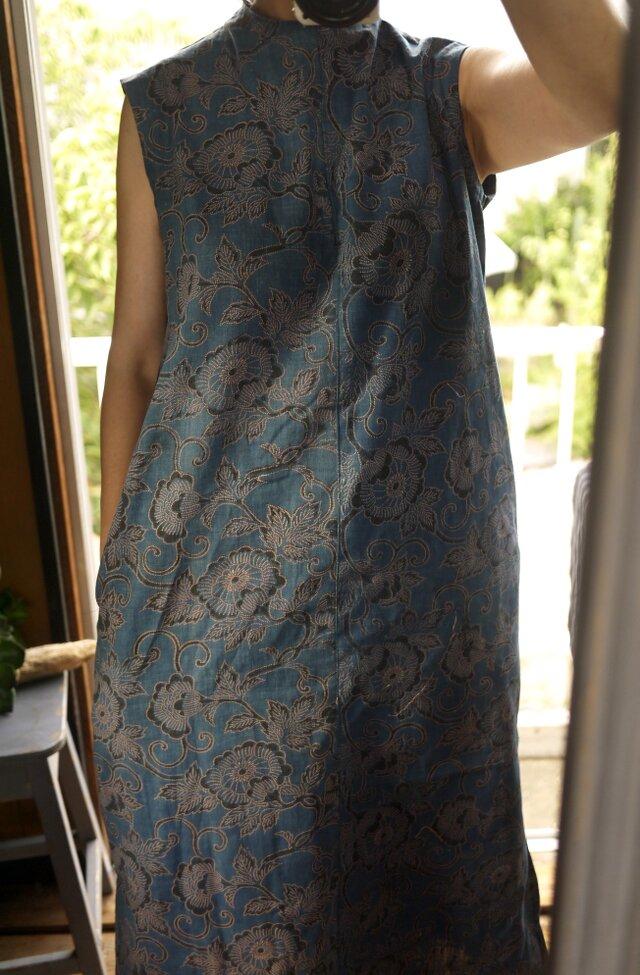 古布型染めサイドスリットワンピースの画像1枚目