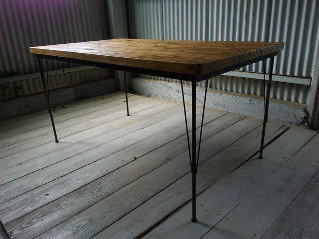 【展示作品】ダイニングテーブル ベーシック(happa.pottery様仕様)の画像1枚目
