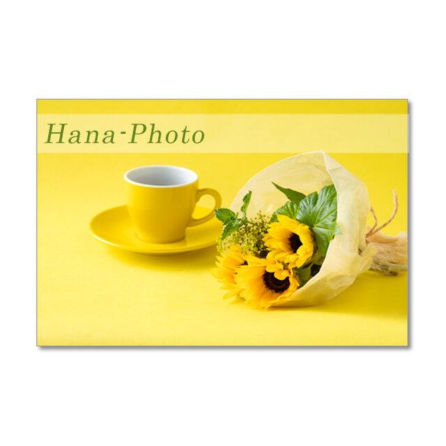 1487) ヒマワリのデザイン   ポストカード5枚組の画像1枚目