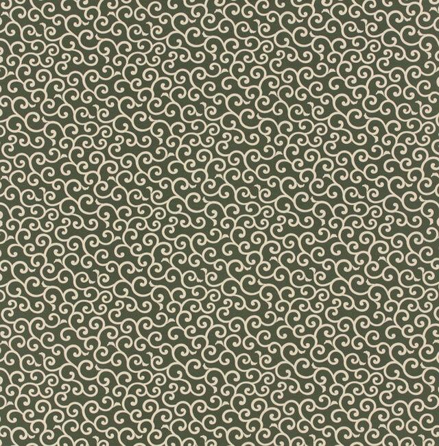 風呂敷 ふろしき 友禅唐草 綿100% 105cm×105cm(色:利休)の画像1枚目