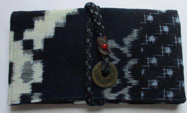 5772 久留米の絵絣と絣で作った和風財布・ポーチ #送料無料の画像1枚目