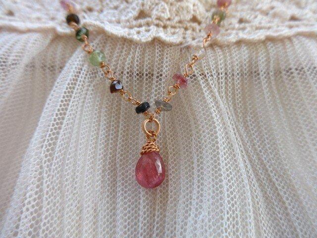 S様専用ピンクトルマリンのネックレスの画像1枚目