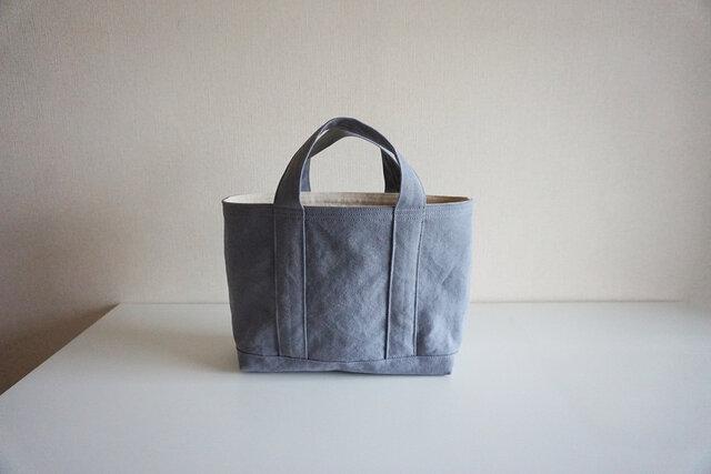 TOTE BAG -bicolor- (M) / coolgray × ecruの画像1枚目
