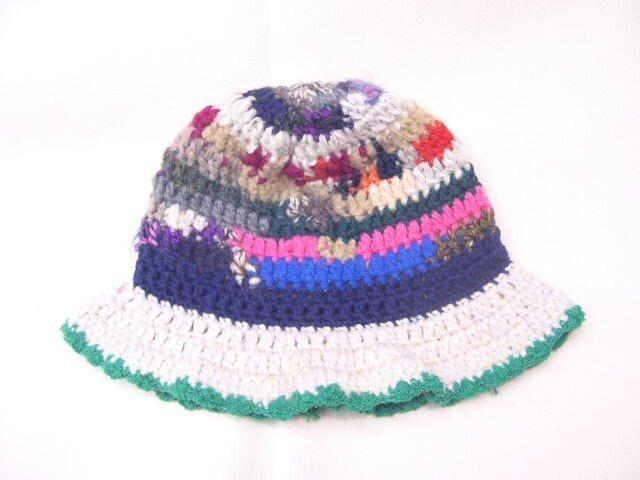 マルチカラーニット帽子の画像1枚目