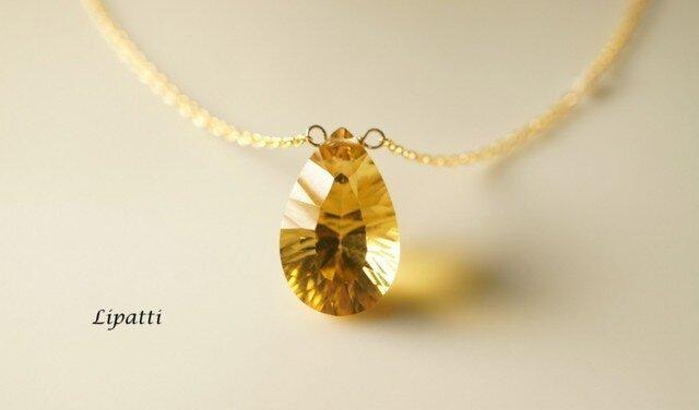 再販】コニャッククォーツのネックレス ~Mireilleの画像1枚目