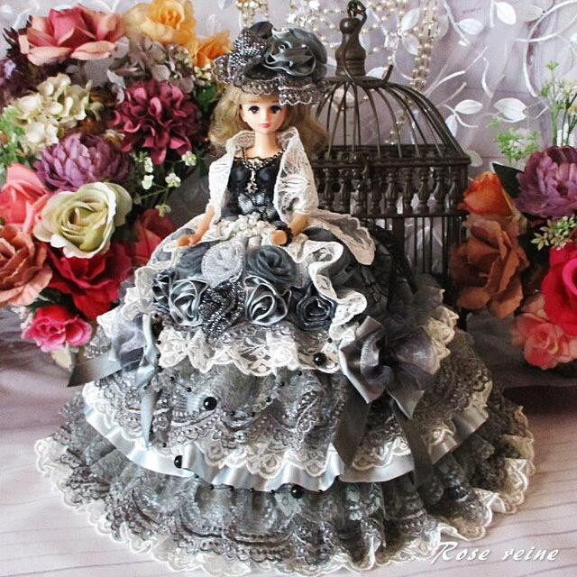 凛 スモーキーグレー魅惑のプリンセスドレス ショール付き豪華5点セットの画像1枚目