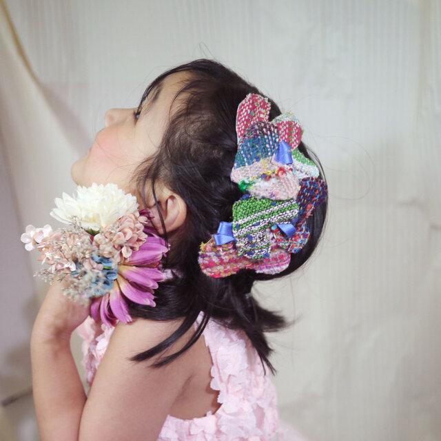 手織り ハートのヘッドドレスの画像1枚目