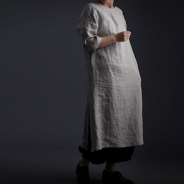 【wafu】Wafu Premium Linen スリットワンピース / フラックス a032j-fix2の画像1枚目