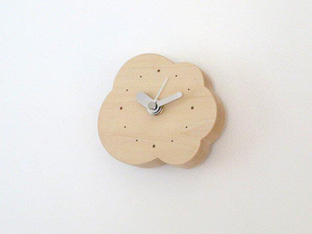 小さなくもの壁掛け/置き時計|basswoodの画像1枚目