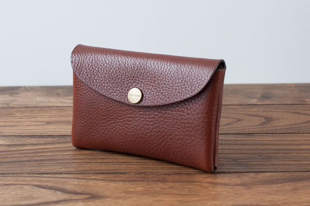 イタリア製牛革のMIDDLE財布 / ダークブラウンの画像1枚目