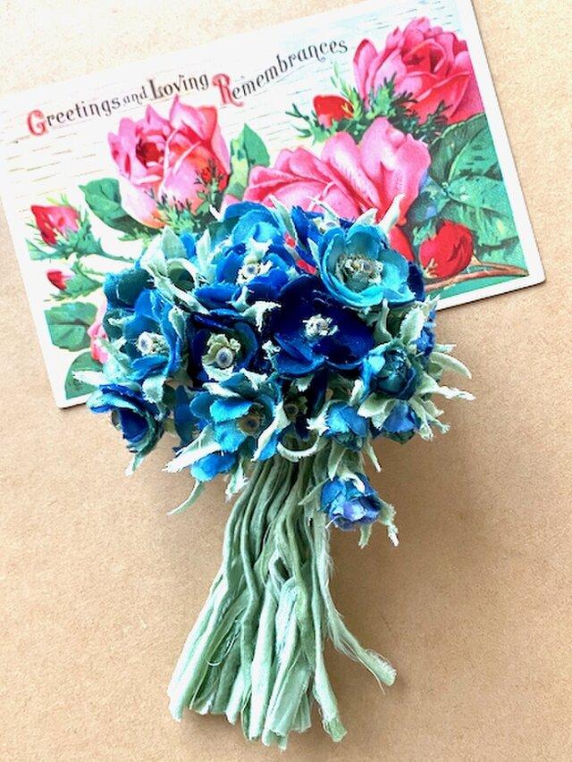 布花 Blue only bouquet corsageの画像1枚目