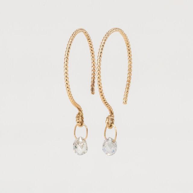 A Dew Drop Diamond Earringsの画像1枚目