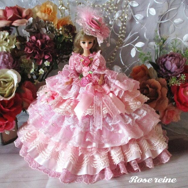 夢見るシンデレラ 妖精が舞うロマンティックミルフィーユドレス 甘さ薫る豪華13段フリルの画像1枚目