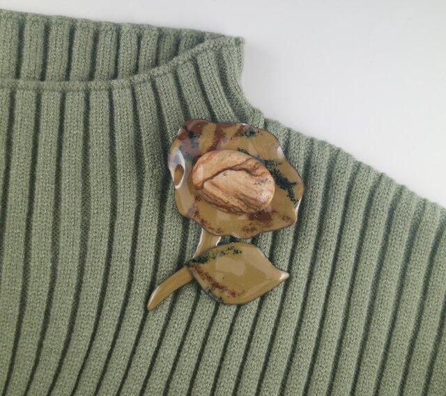 シックに艷やかに ピクチャージャスパーの花の画像1枚目