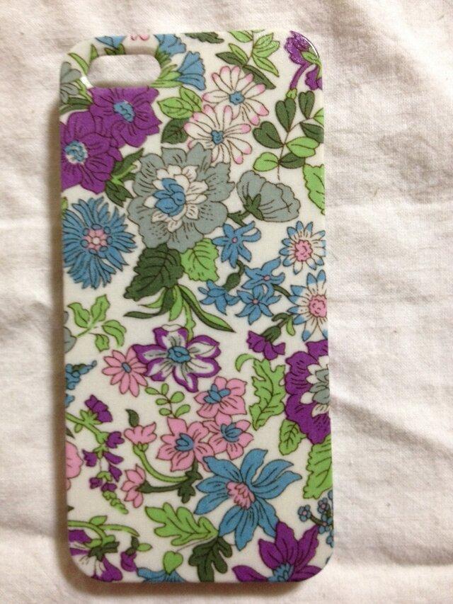 【再販】大人可愛いリバティiPhone5,5sケースの画像1枚目