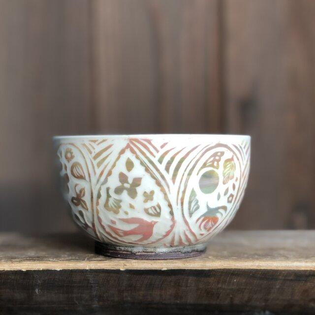 掻き落とし茶碗 — アラベスクの画像1枚目