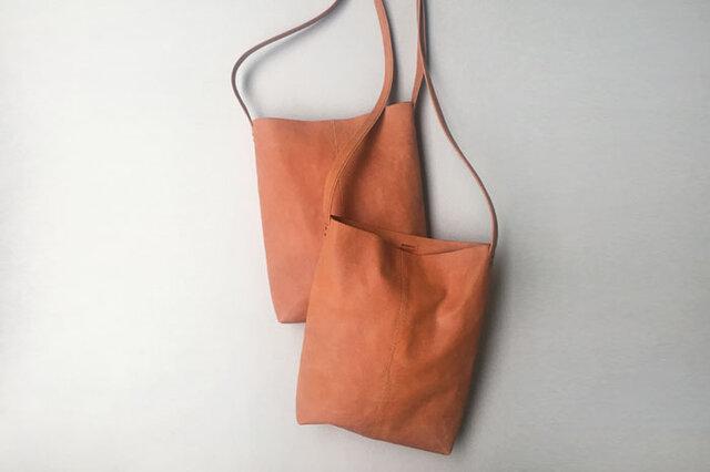 程よい袋 イタリアンレザー BROWN(牛革)の画像1枚目