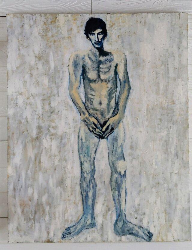 絵画「裸の男 3」F30・油彩画・原画の画像1枚目