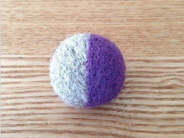 和カロン 小 紫×灰の画像1枚目