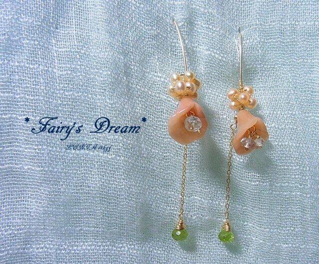 *Fairy's Dream* 14kgfピアスの画像1枚目