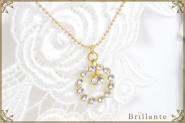 Julietta necklace(crystal)の画像1枚目