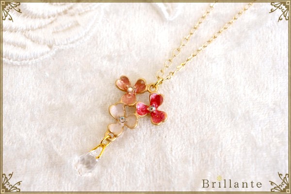 thaleia necklace(pink)の画像1枚目