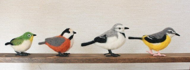 羊毛フェルト 小さな野鳥セットの画像1枚目