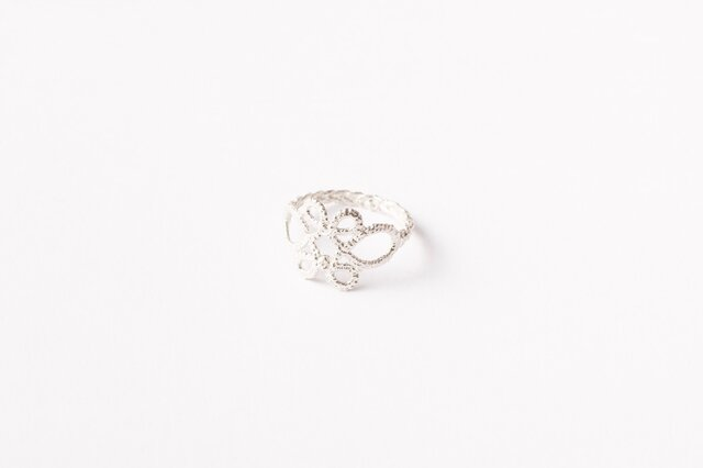 Lace Ring#1 Silverの画像1枚目