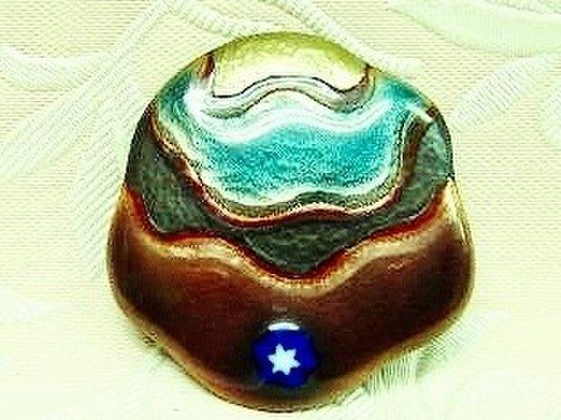 浜辺の星(七宝ブローチ)・IBー162の画像1枚目