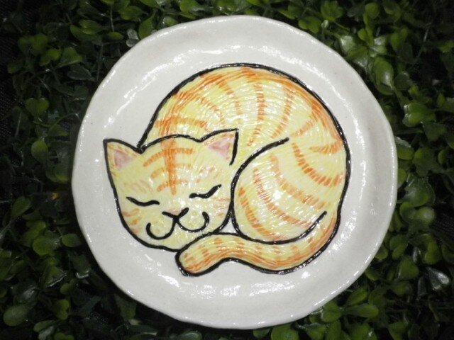 *Y様 ご予約品*眠り猫のお皿(6枚)の画像1枚目