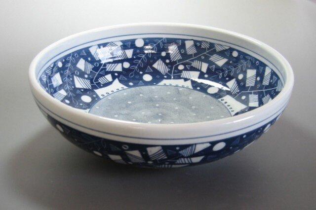 ブルーの大鉢の画像1枚目