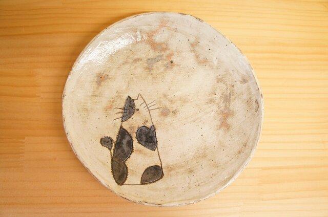白黒ぶちねこのパスタ皿の画像1枚目