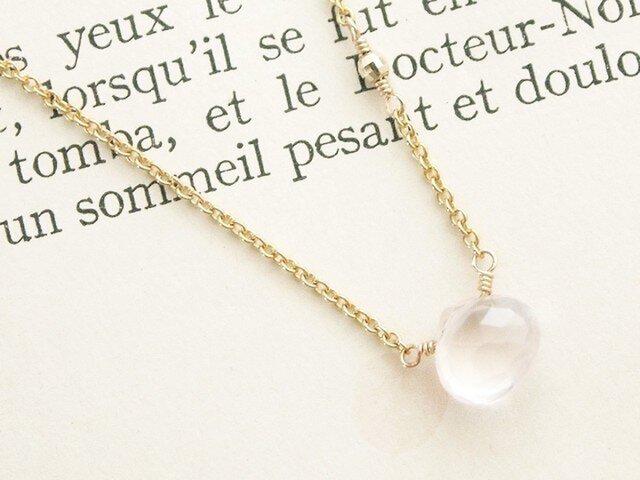 14KGF Rose Quartz Necklaceの画像1枚目
