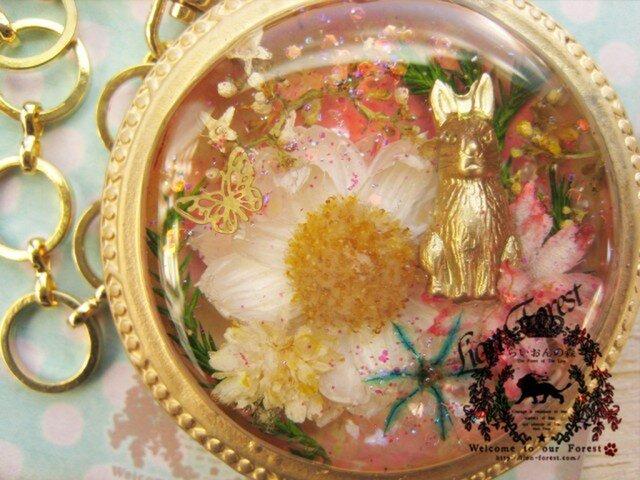 ウサギの懐中時計風バッグチャーム(ペンダントへの変更可)の画像1枚目