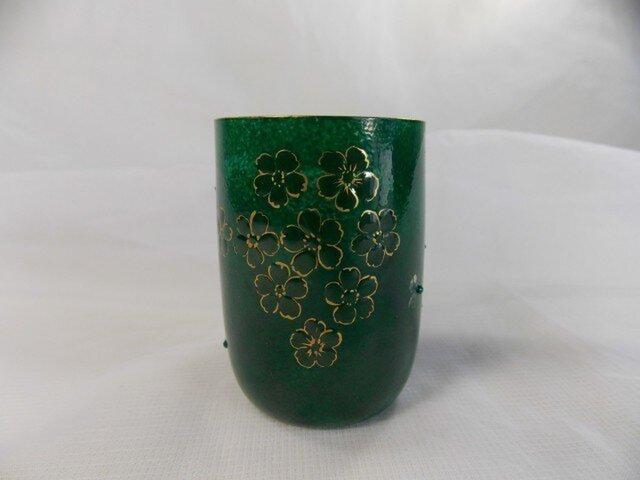 キラキラミニグラス(お花とスワロ付き)の画像1枚目
