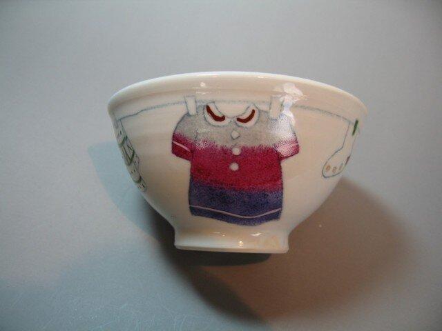 【名入れ可】茶碗洗濯柄シリーズの画像1枚目