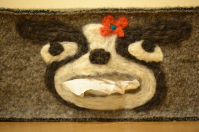 口からBUHIティッシュケース(フル)お花の画像1枚目