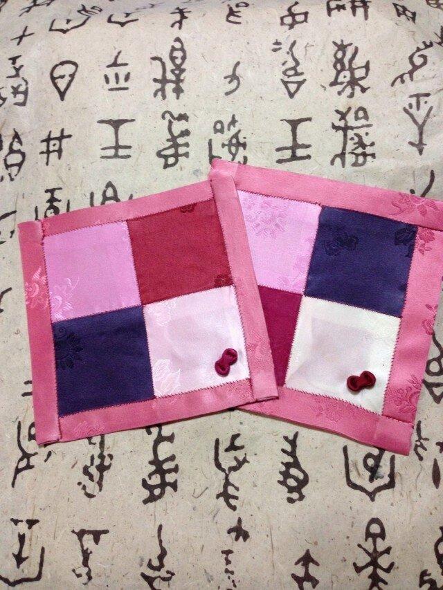 新春ポジャギ、二枚組の画像1枚目