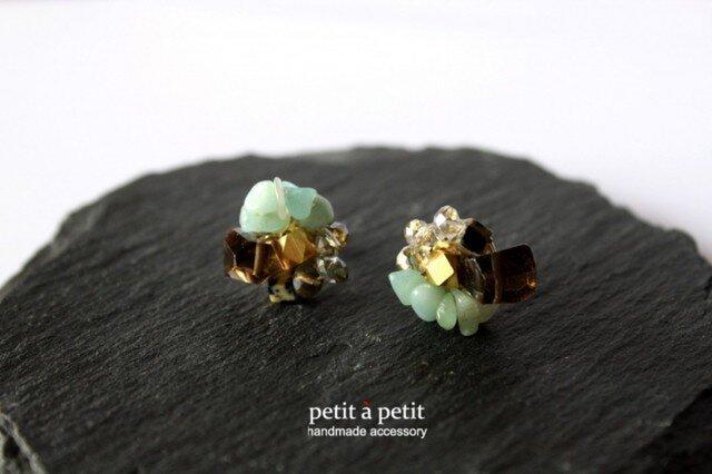 [B様オーダー品]bijou pierce-green-npの画像1枚目