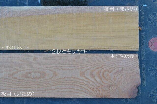 木の話その2 木材の木目(作品の補足ページ)の画像1枚目