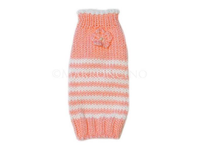 【犬のセーター】花*花ボーダーセーター〔#13-019〕の画像1枚目