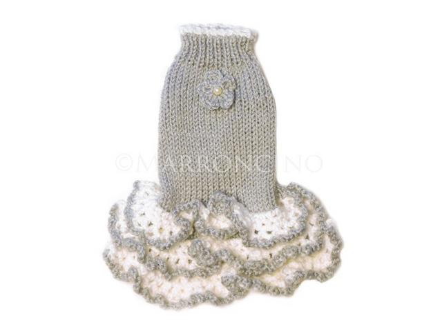 【犬のセーター】花*花フリルワンピース〔#13-236〕の画像1枚目