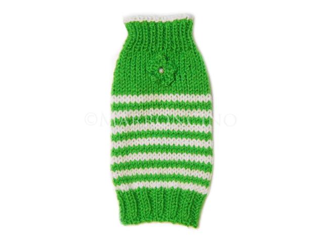【犬のセーター】花*花ボーダーセーター〔#13-024〕の画像1枚目
