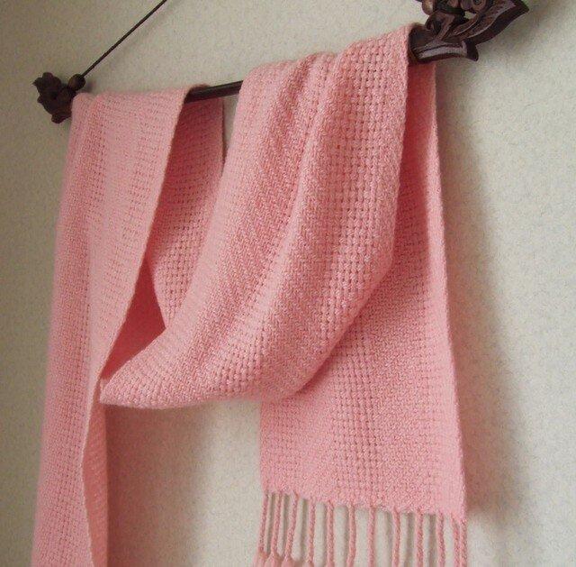 手織りマフラー・・ときいろの画像1枚目
