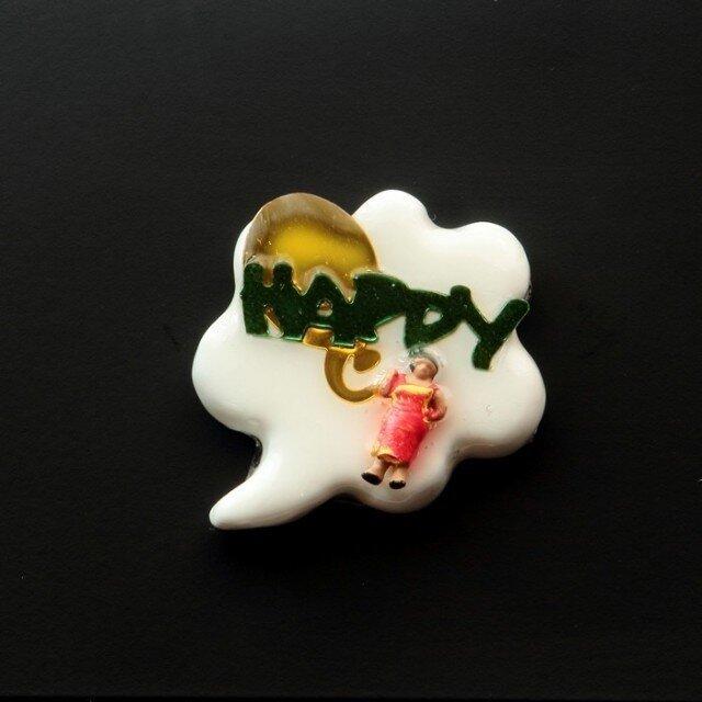 Happy people ピンブローチ #05の画像1枚目