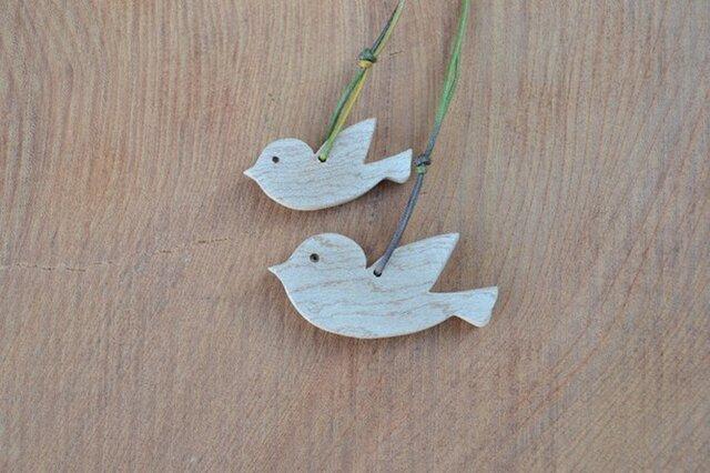 小鳥の親子のペンダント♪ 千年以上のカエデ♪の画像1枚目