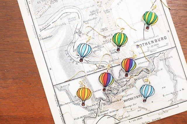 wakka. 気球のピアス カラフルの画像1枚目