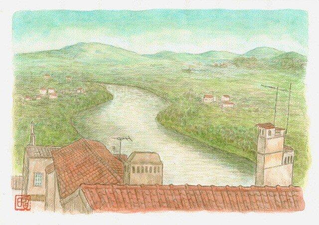 ポルトガル~川の流れる風景の画像1枚目