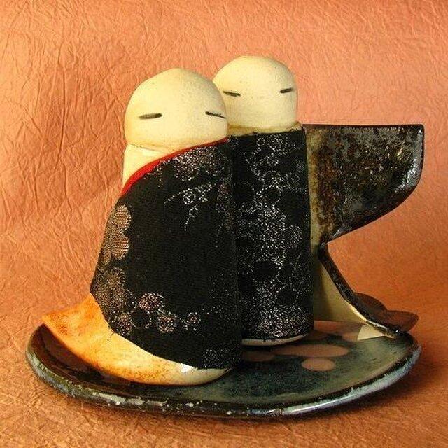 陶器のひな人形(立ち雛)8の画像1枚目