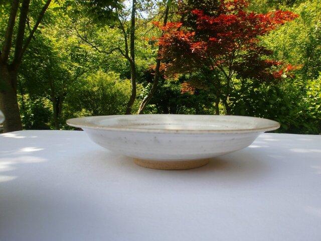 チタンマット釉 八寸丸鉢の画像1枚目